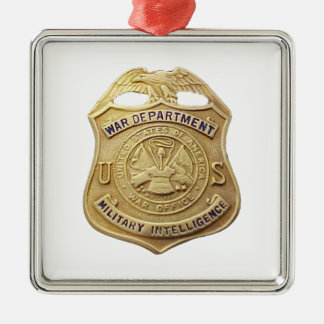 Military Intelligence Metal Ornament