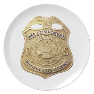 Military Intelligence Plate