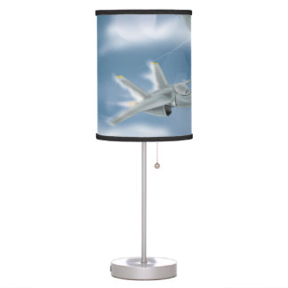 Military Jet Aircraft Table Lamp