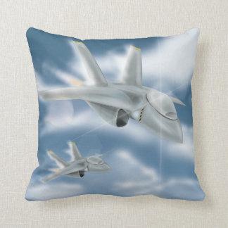 Military Jet Aircraft Throw Pillow