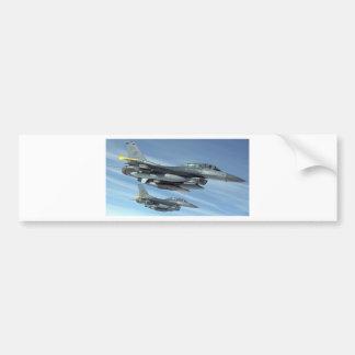 military jet bumper sticker