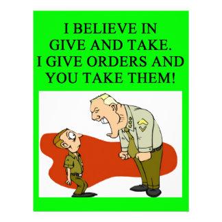 military joke letterhead template