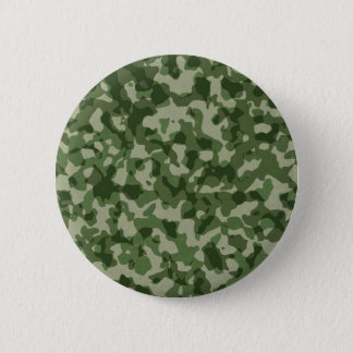 Military Jungle Green Camouflage 2 Inch Round Button