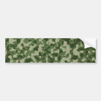 Military Jungle Green Camouflage Bumper Sticker