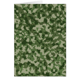 Military Jungle Green Camouflage Card