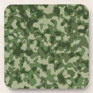 Military Jungle Green Camouflage Coaster