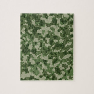 Military Jungle Green Camouflage Jigsaw Puzzle