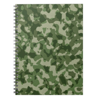 Military Jungle Green Camouflage Notebook