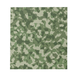 Military Jungle Green Camouflage Notepad