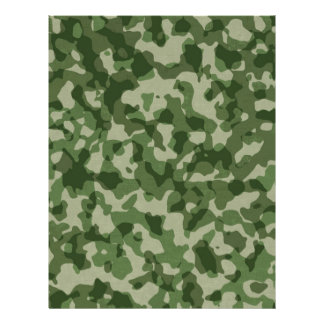 Military Jungle Green Camouflage Personalized Letterhead