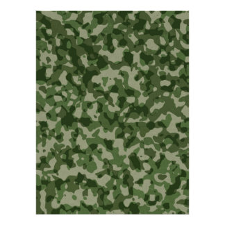 Military Jungle Green Camouflage Poster