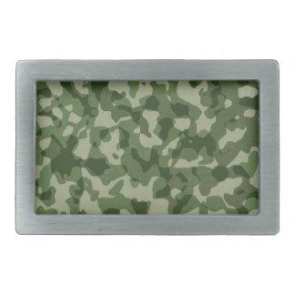 Military Jungle Green Camouflage Rectangular Belt Buckle