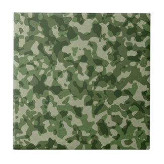 Military Jungle Green Camouflage Tile