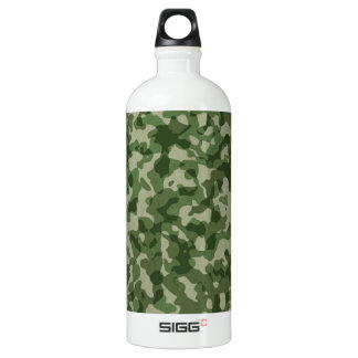 Military Jungle Green Camouflage Water Bottle