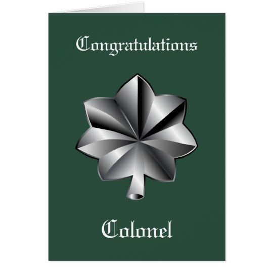 Military Lieutenant Colonel Promotion Card