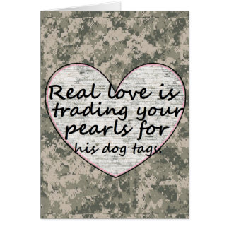 Military Love Greeting Card