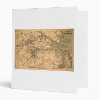 Military Map of South Eastern Virginia (1864) 3 Ring Binders