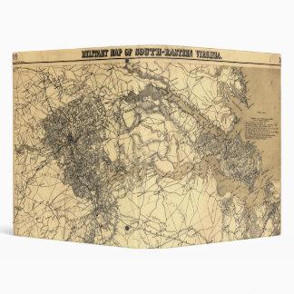 Military Map of South-Eastern Virginia (1864) Binder