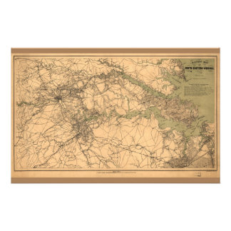 Military Map of South Eastern Virginia (1864) Stationery