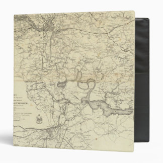 Military Map of the United States 3 Ring Binder