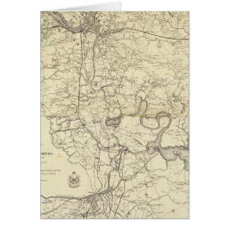 Military Map of the United States Greeting Card