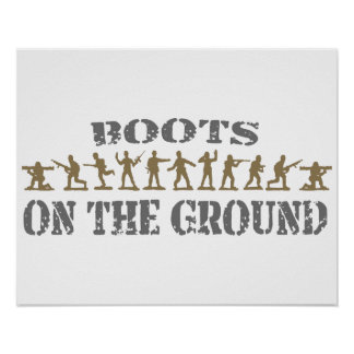 Military Men - Boots on the Ground Poster