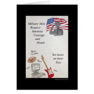 Military Men & Fun Greeting Card