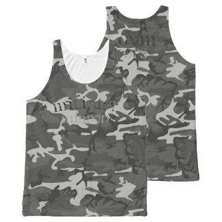 Military Minded Gym Ops Whole Print Camo Tank