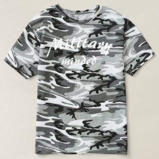 Military Minded Soldier Urban Woodland Camo Tshirt
