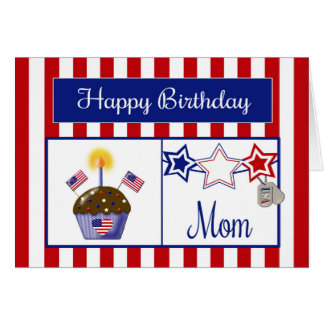 Military Mom Birthday Card
