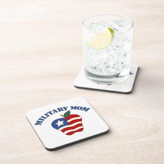 Military Mom Patriotic Apple Beverage Coaster
