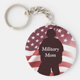 Military Mom Patriotic Pride Keychain
