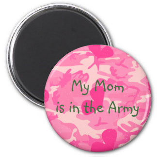 Military Mom Pink Camouflage Magnet