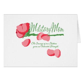Military Mom Rose Card