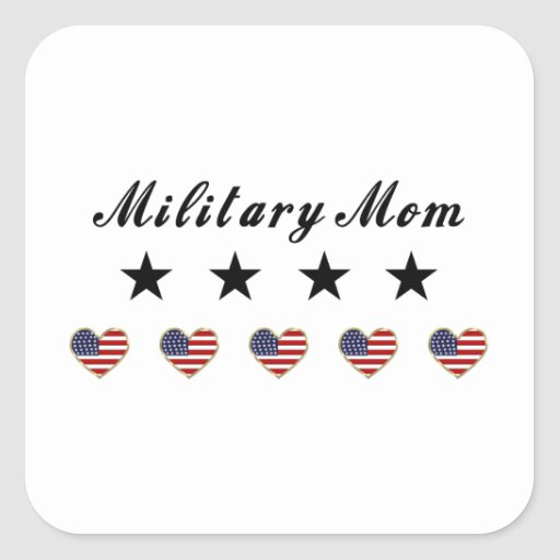 Military Mom Square Sticker