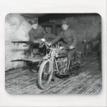 Military Motorcycle EMT, 1910s Mousepad