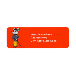 Military Mouse Solider Return Address Label