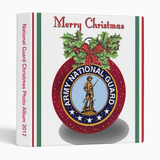 Military National Guard Christmas Photo Album 3 Ring Binder