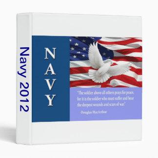 Military Navy Photo Album Vinyl Binder