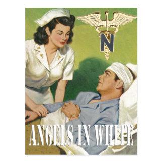Military Nurses - Angels In White Postcard