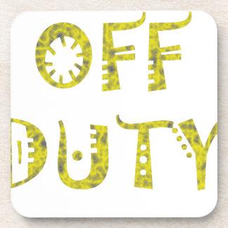 military Off Duty Black white yellow Coaster