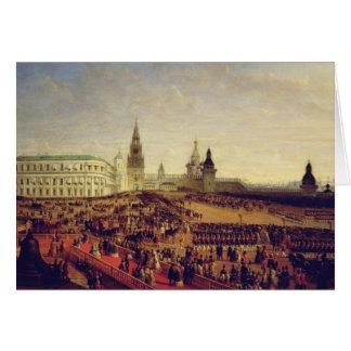 Military parade during Coronation of Alexander Greeting Card