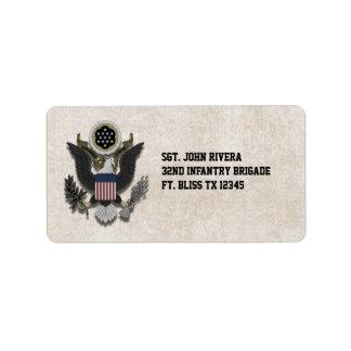 Military Patriotic Eagle Logo Seal
