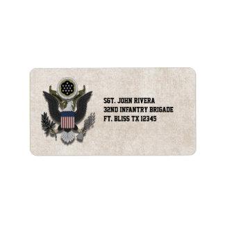 Military Patriotic Eagle Logo Seal Label