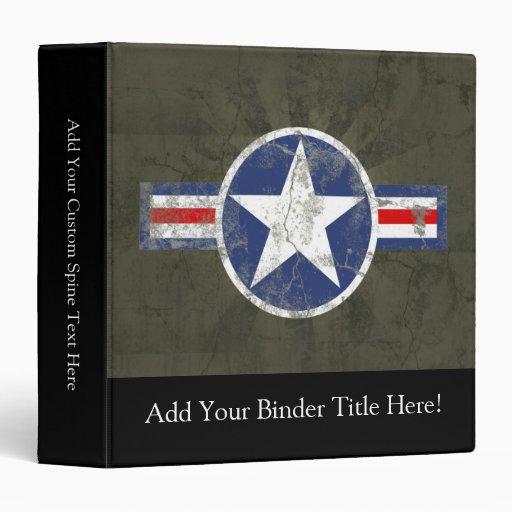 Military Patriotic Vintage Star Binder