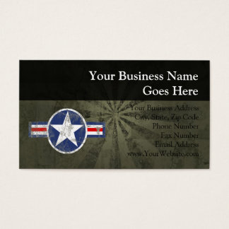 Military Patriotic Vintage Star Business Card