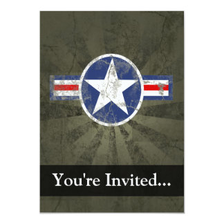 Military Patriotic Vintage Star Personalized Announcements