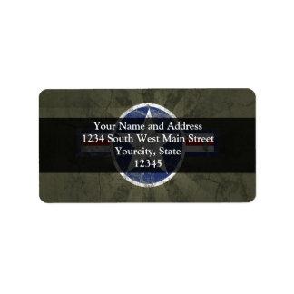 Military Patriotic Vintage Star Address Label