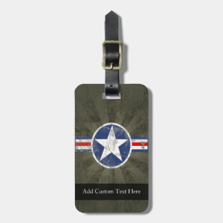 Military Patriotic Vintage Star Luggage Tags