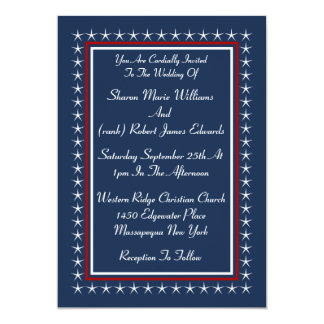 Military Patriotic Wedding Invitations